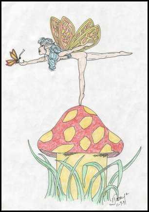 Faerie on a Mushroom