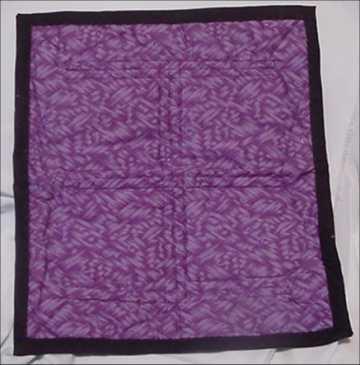 Black and Purple Log Cabin (Back)