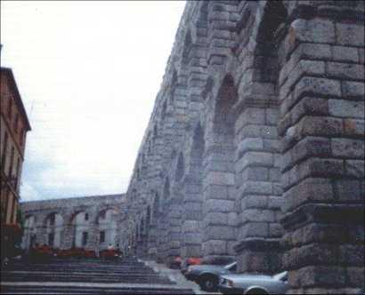 Aquaduct in Segovia, Spain