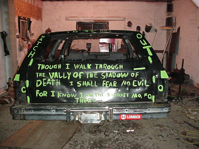 1984 Chevy Caprice Estate - Rear - Before